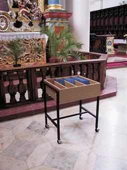 Gesangbuchwagen für bis zu 110 Bücher, Eiche dunkel