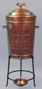 Weihwasserbehälter, Kupfer, 75 Liter