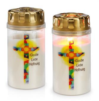 """Licht mit Bild """"Glaube-Liebe-Hoffnung"""""""