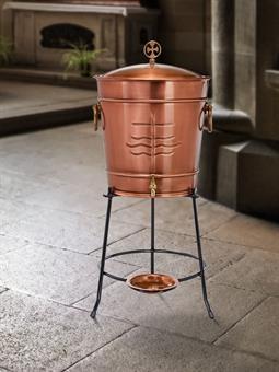 Weihwasserbehälter , Kupfer, 50 Liter