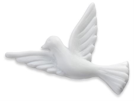 Taube aus Wachs, weiß