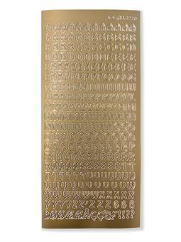 Sticker, gold  , Alphabet A-Z