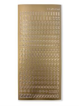 Sticker, gold ,Zahlen 0-9