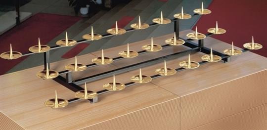 Kommunionkerzenaufsatz 4-reihig, für 34 Kerzen