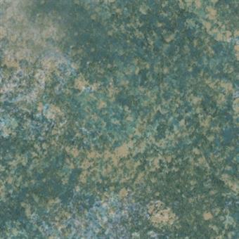 Verzierwachsplatte, grün/gold gepunktet