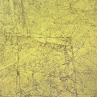 Verzierwachsplatte, antikgold