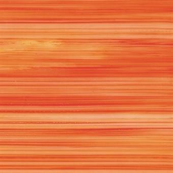 Verzierwachsplatte, transparent, orange bemalt