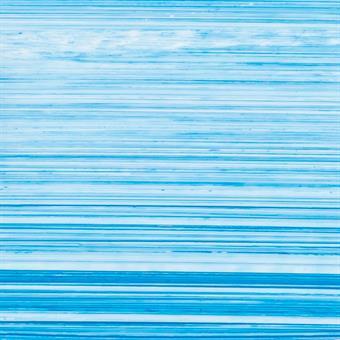 Verzierwachsplatte, blau-weiß