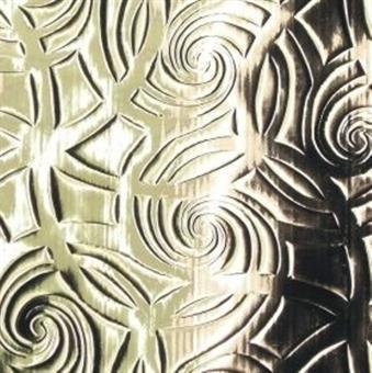 Verzierwachsplatte, silber geprägt, 10er Pack