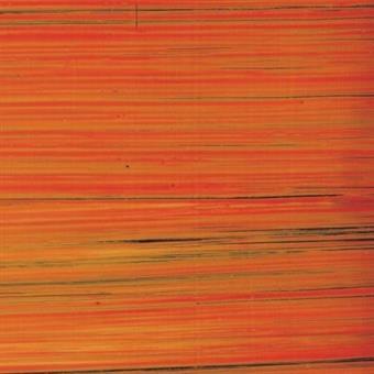 Verzierwachsplatte, gold, orange bemalt, 10er Pack