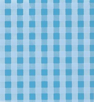 Verzierwachsplatte, blau kariert
