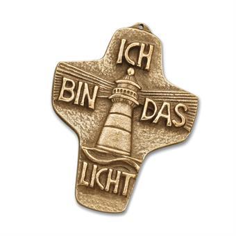 """Bronzekreuz """"Ich bin das Licht"""""""