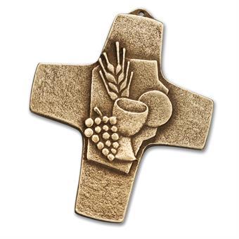 """Bronzekreuz """"Ähre und Weintrauben"""""""
