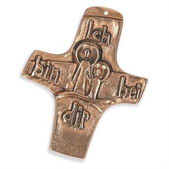 "Bronzekreuz ""ich bin bei dir"""