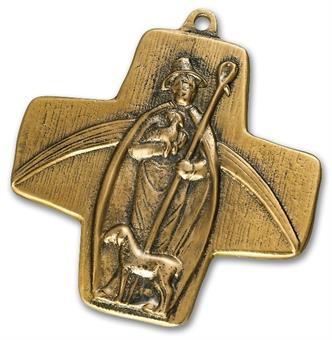 """Bronzekreuz """"Guter Hirte"""""""