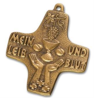 """Bronzekreuz """"Leib und Blut"""""""