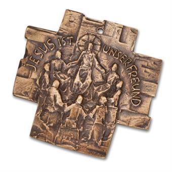 """Bronzekreuz """"Jesus ist unser Freund"""""""