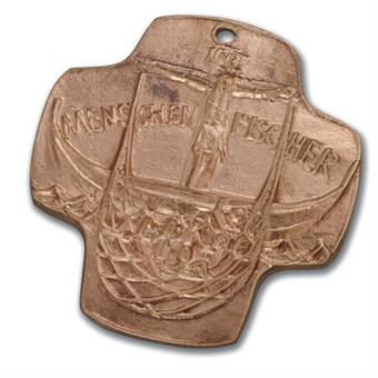 "Bronzekreuz - ""Jesus Menschenfischer"""