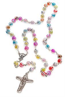 Rosenkranz mit bunten Perlen