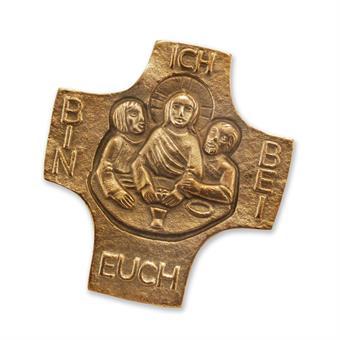"""Bronzekreuz """"Ich bin bei euch"""""""