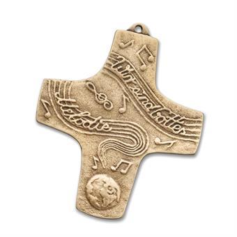 """Bronzekreuz """"Wir sind Gottes Melodie"""""""