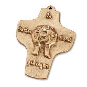 """Bronzekreuz """"In Gottes Hand geborgen"""""""