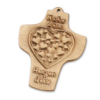 "Bronzekreuz ""Nahe dem Herzen Jesu"""