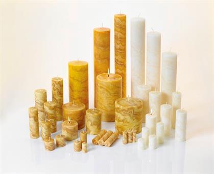 100%-Bienenwachskerze, 150/50mm natur Marmoriert natur | 150 mm | 50 mm