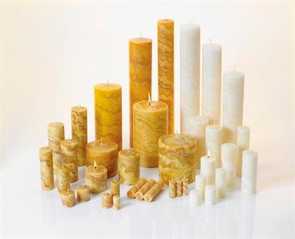 100%-Bienenwachskerze, 80/50mm natur