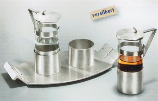 Messweinkännchen-Set, versilbert