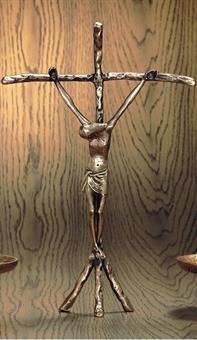Stehkreuz, Bronze