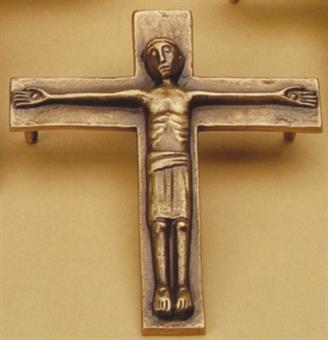 Liegekreuz, Bronze