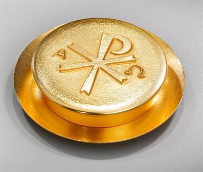 Versehpatene, Messing vergoldet, Durchmesser ca. 10 cm