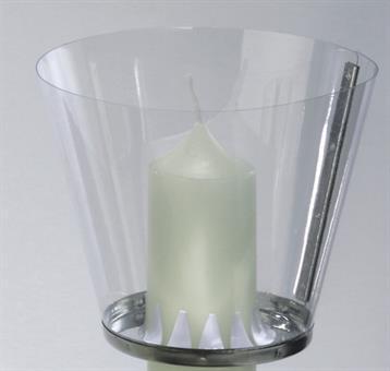 Windschutz, für Kerzen bis 4 cm Durchmesser
