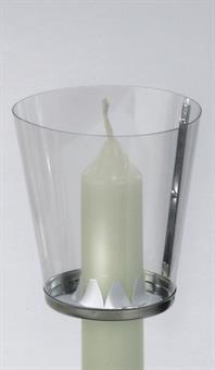 Windschutzbecher, für Kerzen bis  2,5 cm Durchmesser