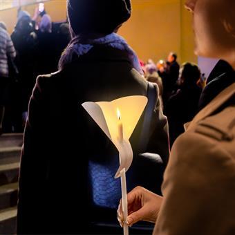 Windschutz für dünne Kerzen