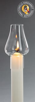 Windschutzglas, Tulpenform 4 cm
