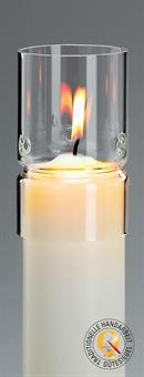 Windschutzglas, Zylindrisch 6 cm
