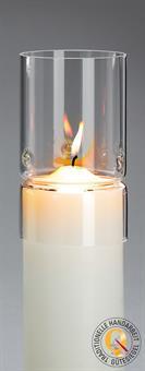 Windschutzglas, Zylindrisch 8 cm