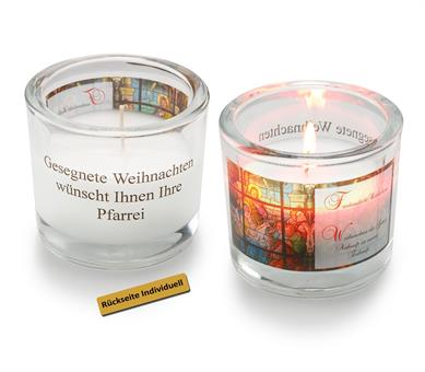 Glas-Windlicht, Friedenslicht Bethlehem