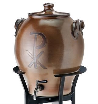 Weihwasserbehälter, Keramik, braun, 25 l