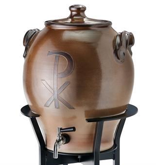 Weihwasserbehälter, Keramik, braun, 15 Liter