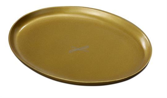 Ovalleuchter, goldfarben, mittel