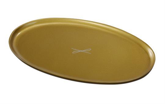 Ovalleuchter, goldfarben, groß