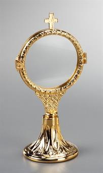 Ostensorium, Messing, vergoldet, Höhe 18 cm