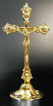 Altarkreuz, Messing poliert