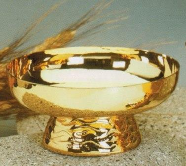 Hostienschale vergoldet,Ø 14cm