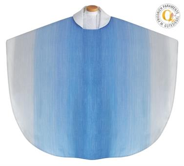 Marienkasel, blau mit Innenstola