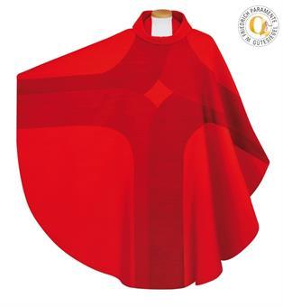 Kasel, rot mit Innenstola