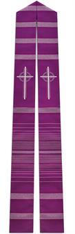 Stola, Wollmischgewebe, violett